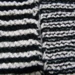 Garter Stitch Square - RS and WS views
