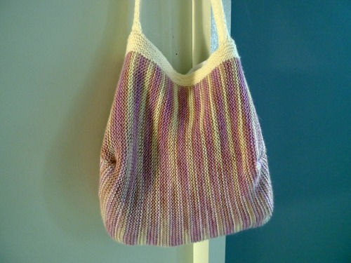 Knitting Pattern for Handbag Using Sock Yarn