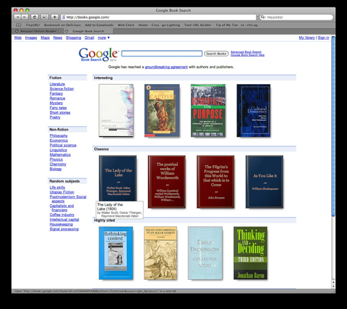 Google Book Search: a debate among Paul Duguid, Tim O'Reilly, Danny Sullivan and Donald Waters