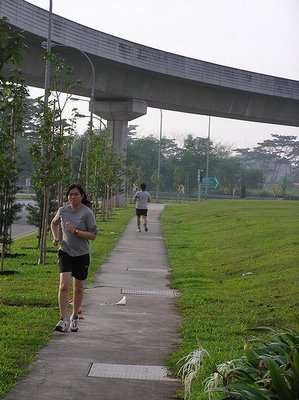 Jogging at Punggol Field