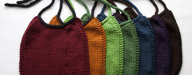 I Love Stockinette Baby Bib