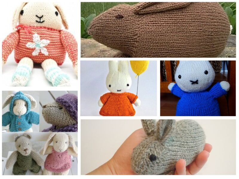 How to Knit a Bunny with these 10 Knitting Patterns | The Knitting Librarian