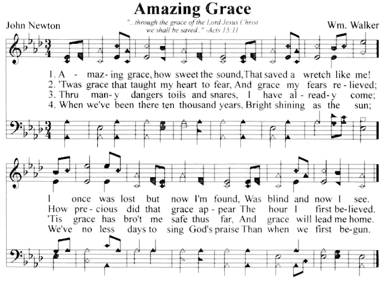 Amazing Grace music score