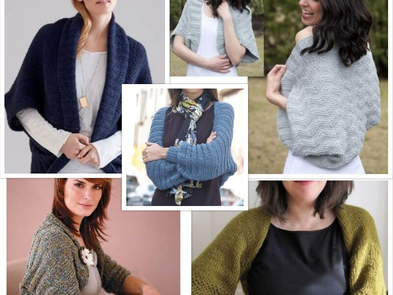 5 Shrug Knitting Pattern Ideas Free On the Net| The Knitting Librarian