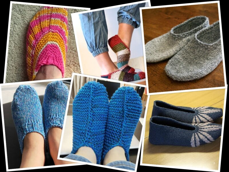 7 Free Knitting Patterns for Slippers | The Knitting Librarian