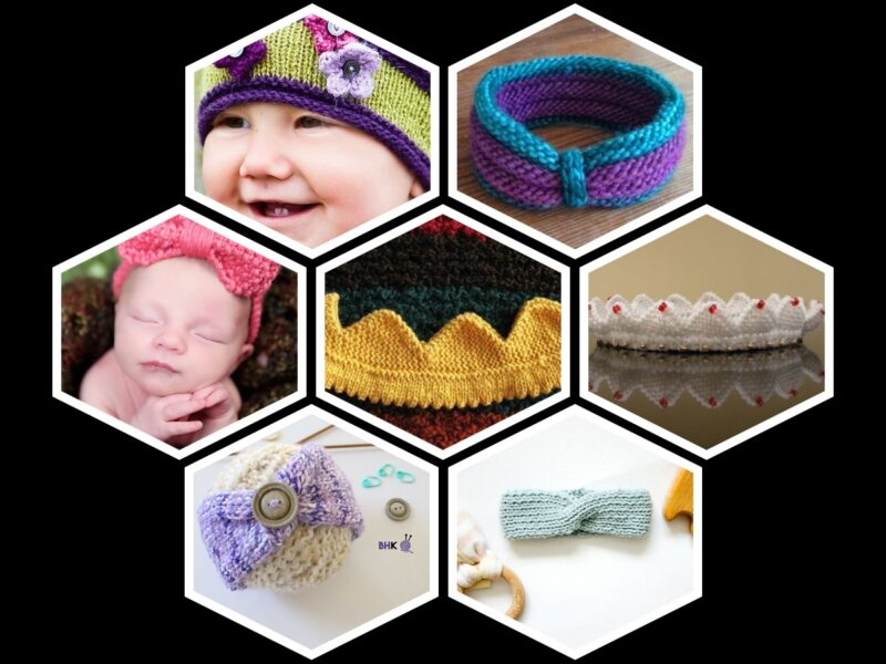 7 Free Knitted Baby Headband Patterns Free on the Internet