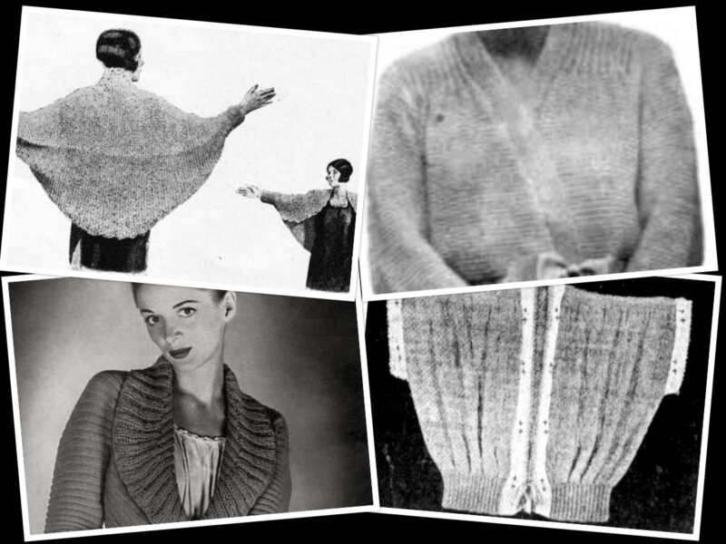 Looking for a Free Bed Jacket Knitting Pattern? Here are 6 | The Knitting Librarian