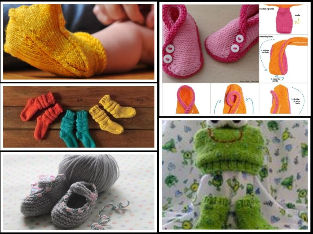 how to knit baby booties