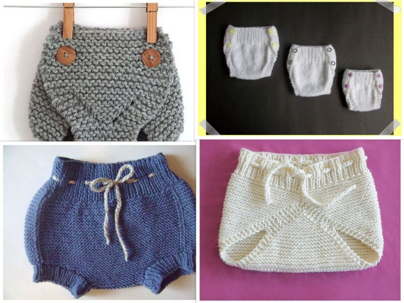 5 Knit Diaper Cover Pattern Ideas Free on the Internet | The Knitting Librarian