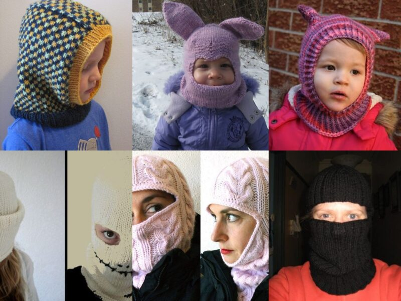 10 Balaclava Knitting Pattern Ideas from Children to Adults | The Knitting Librarian