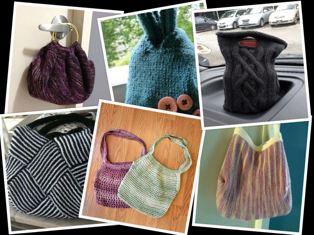 knitting patterns for bags