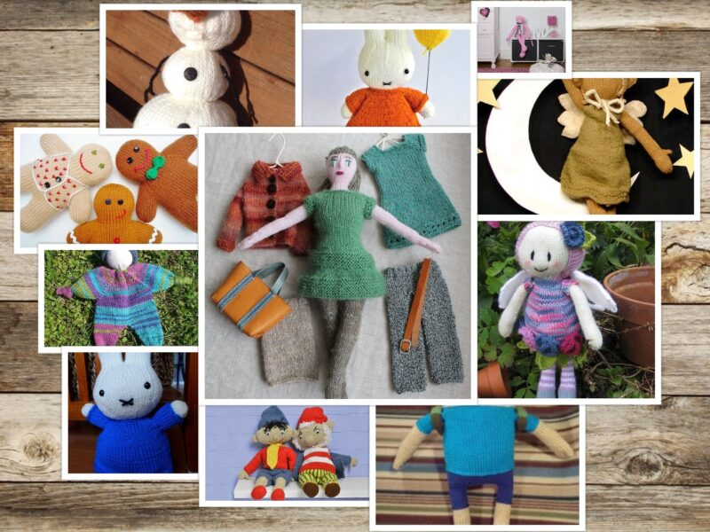 11 Free Knitting Patterns for Dolls I want to Knit