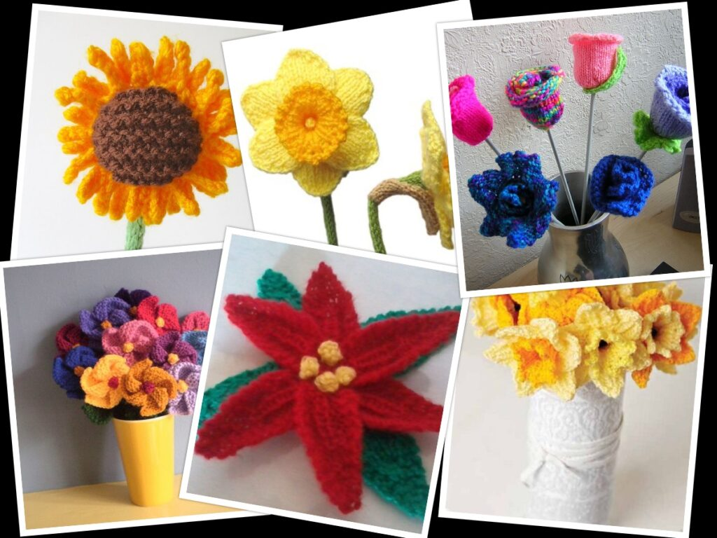 how to knit flowers