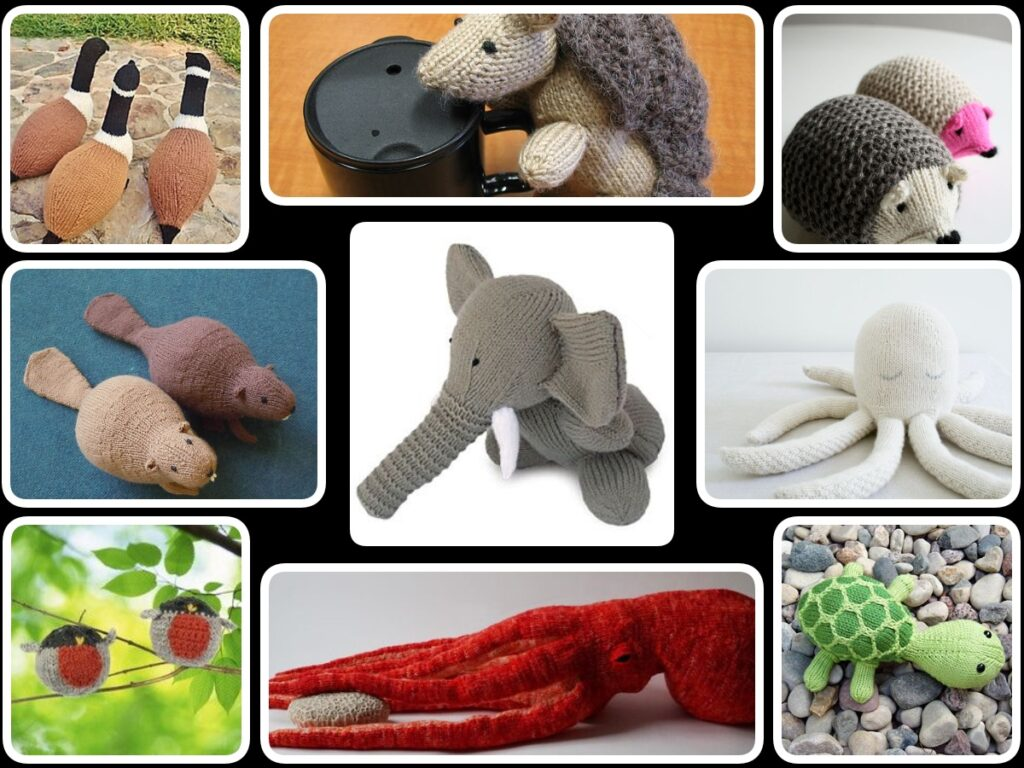 knitted wild animals free patterns