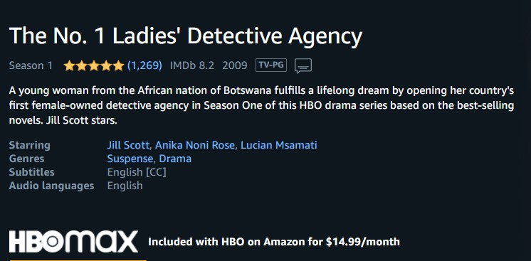 Watch No 1 Ladies Detective Agency TV Series Free – 7 Full Episodes