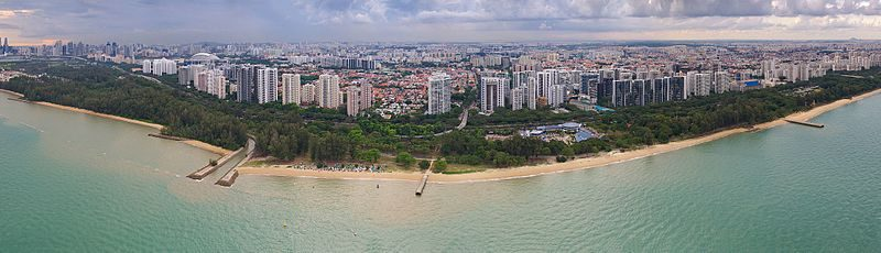 Singapore East Coast Park – Reclaimed Land and Man-Made Beach