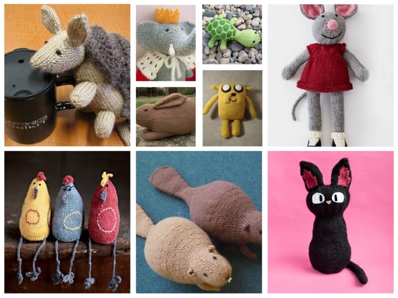 33 Free Toy Animal Knitting Patterns To Choose From